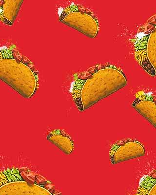 taco pop art background
