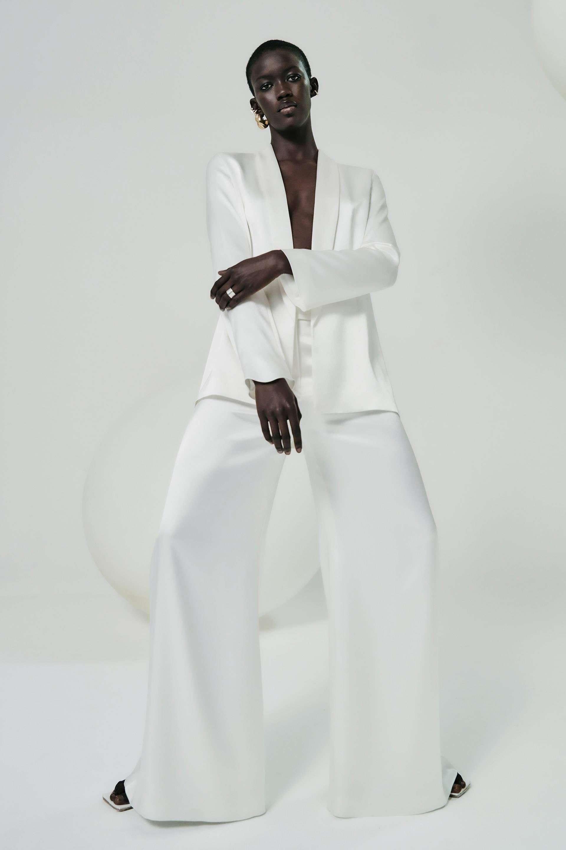 Galvan London White Satin Suit
