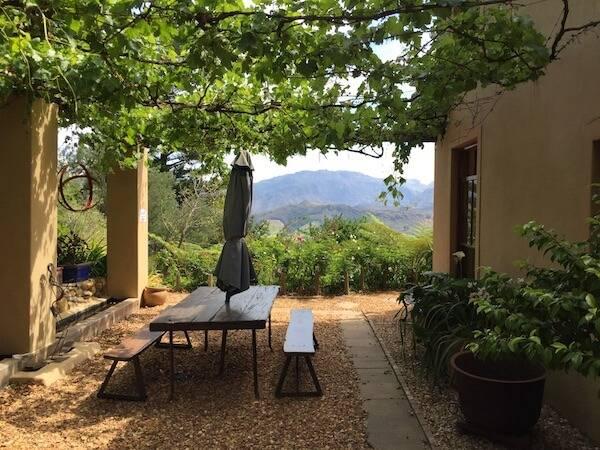 Ausblick auf das Franschhoek Valley