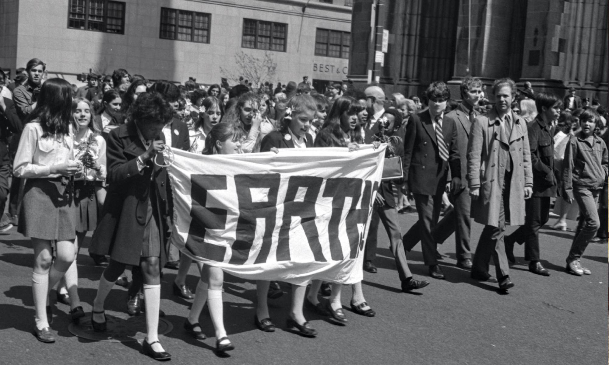 Earth day march 1970.