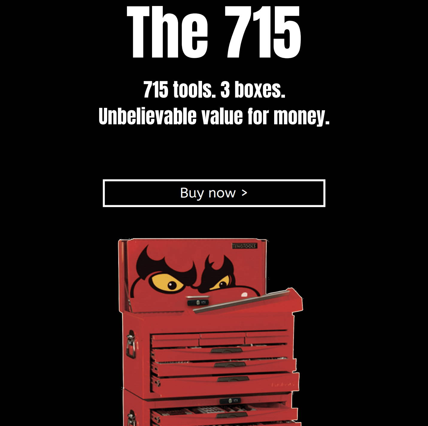 The 715. 715 tools. 3 boxes. Unbelievable value for money