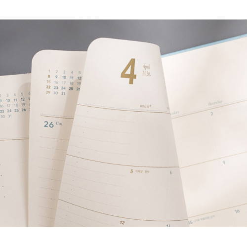 100gsm paper - 2020 Notable memory B6 dated weekly planner