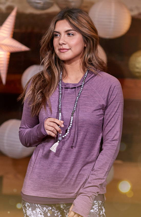 Cozy purple maya hoodie