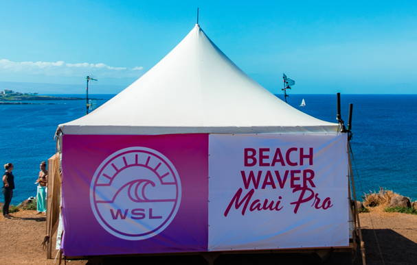 The Beachwaver Zen Zone at the Beachwaver Maui Pro Women's Surf Championships