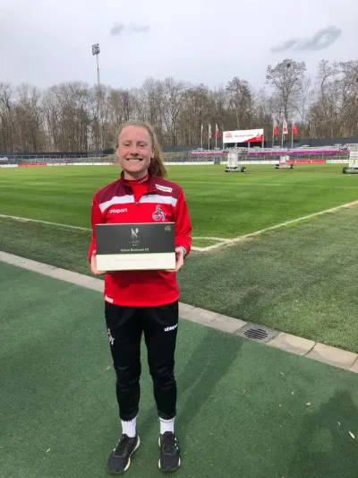 Amber Barrett of F.C Koln working with Nuasan Active Skin & Bodycare which is natural skin and bodycare for sports and active people. Trusted by athletes, loved by everyone.
