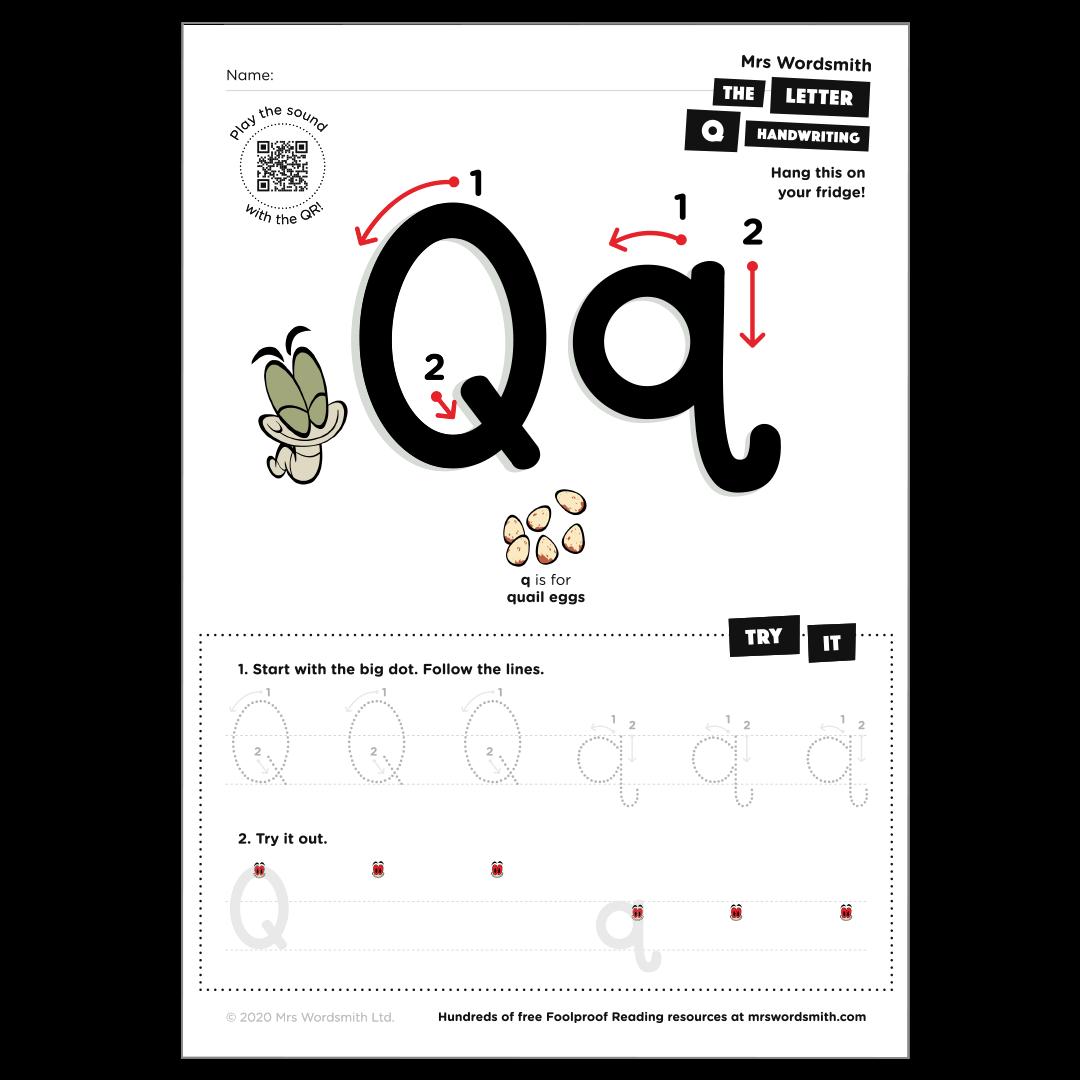 Letter q activity