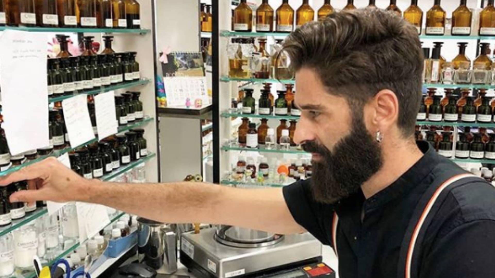 Miguel matos in perfume studio