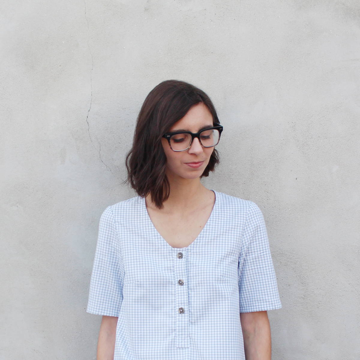 How to Sew a Collarless Version with Placket