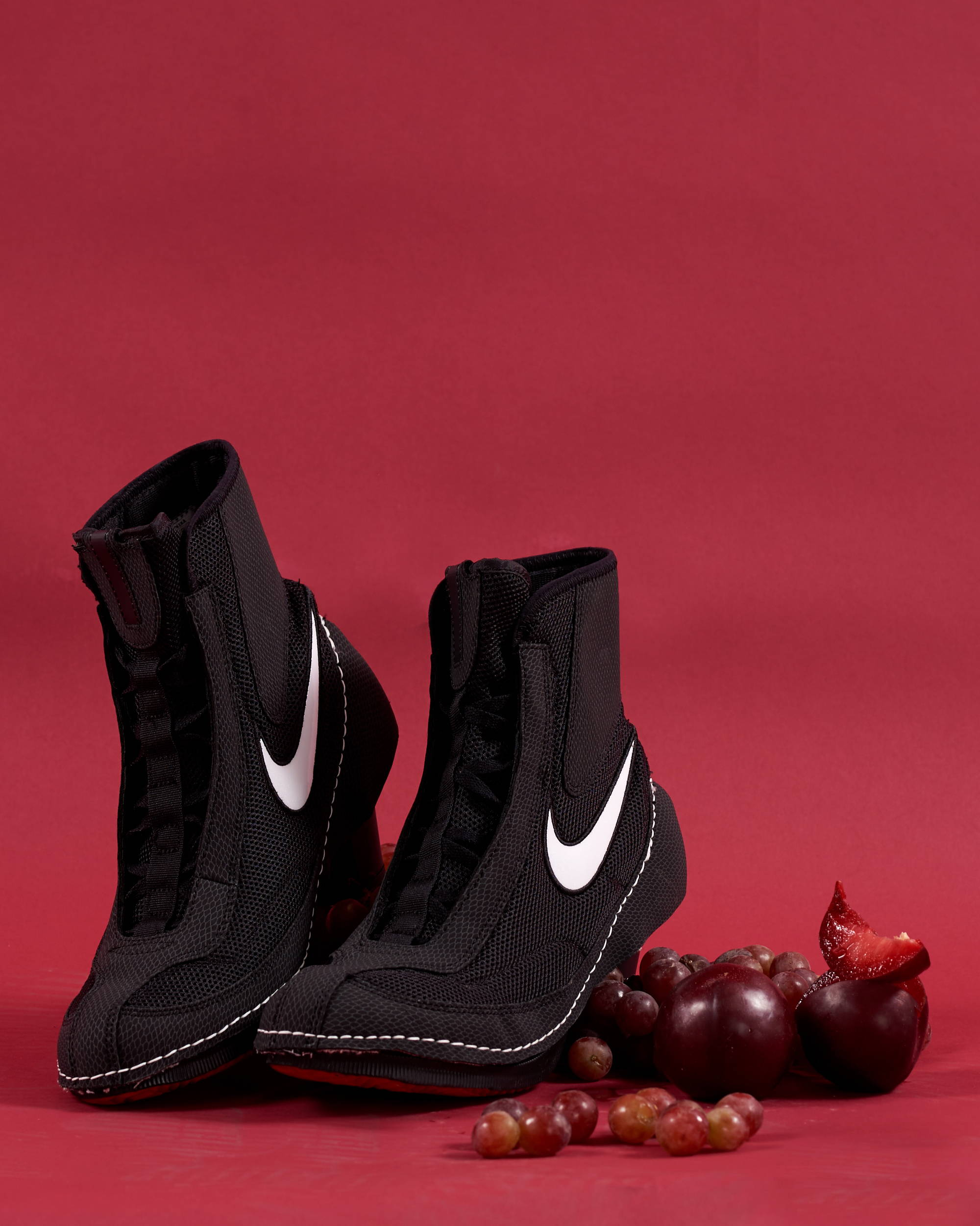 Comme des Garcons x Nike Machomai boxing boot black collaboration - Hlorenzo