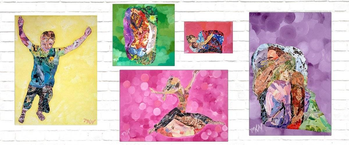 Metal Collage Prints