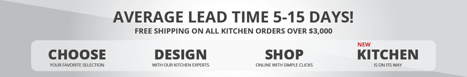european kitchen cabinets lead time banner