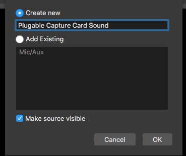 Adding a source macOS