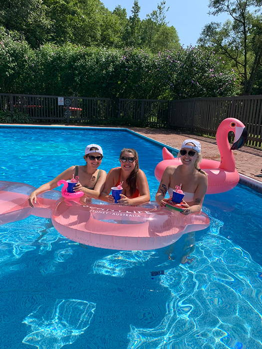 Kara McGrath with friends in Hilton Head, South Carolina.