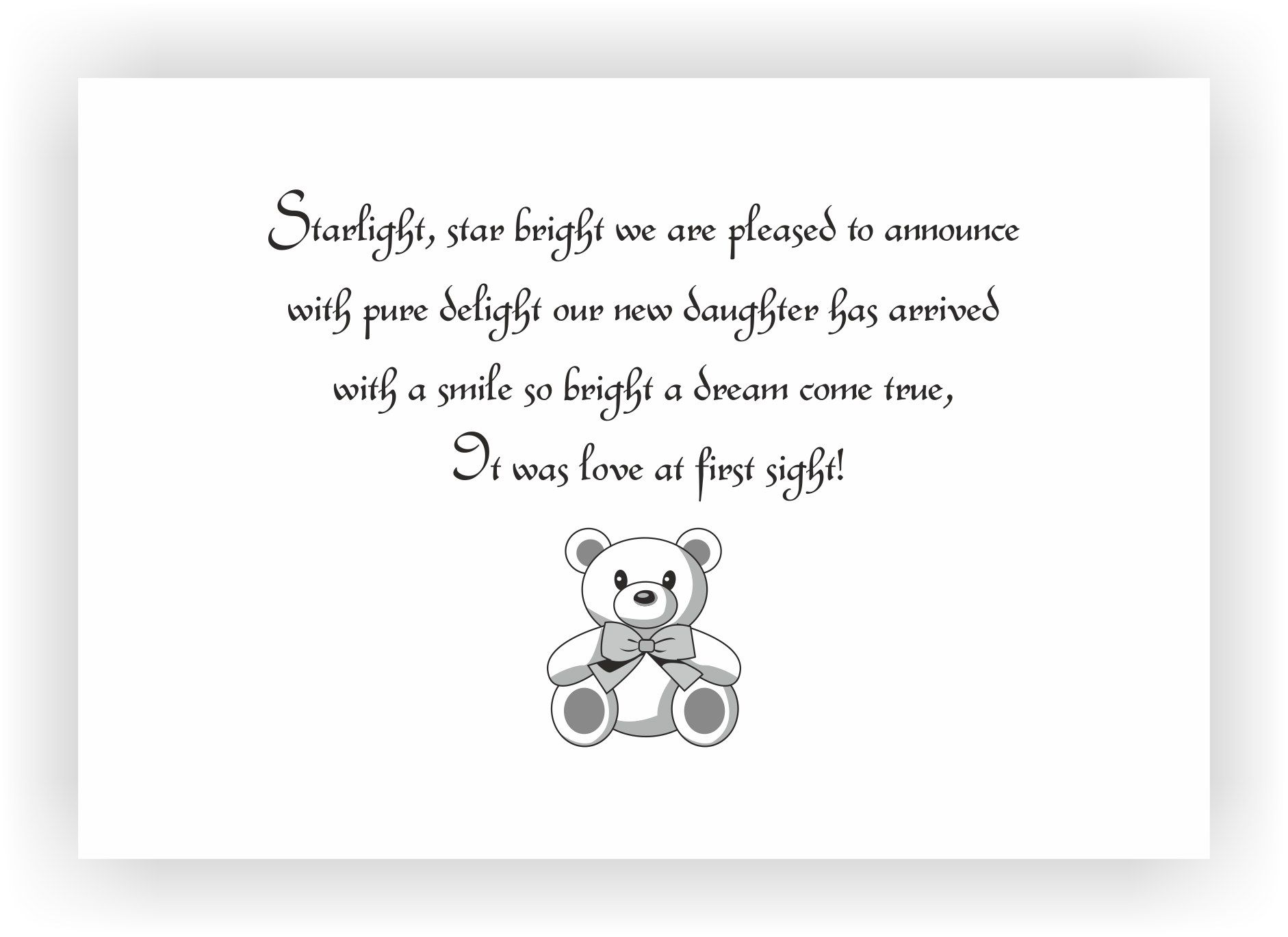 birth announcement message for girl - 9