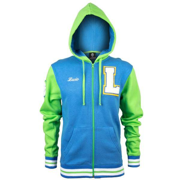 Product image of Overwatch Varsity Lucio Zip-Up Hoodie