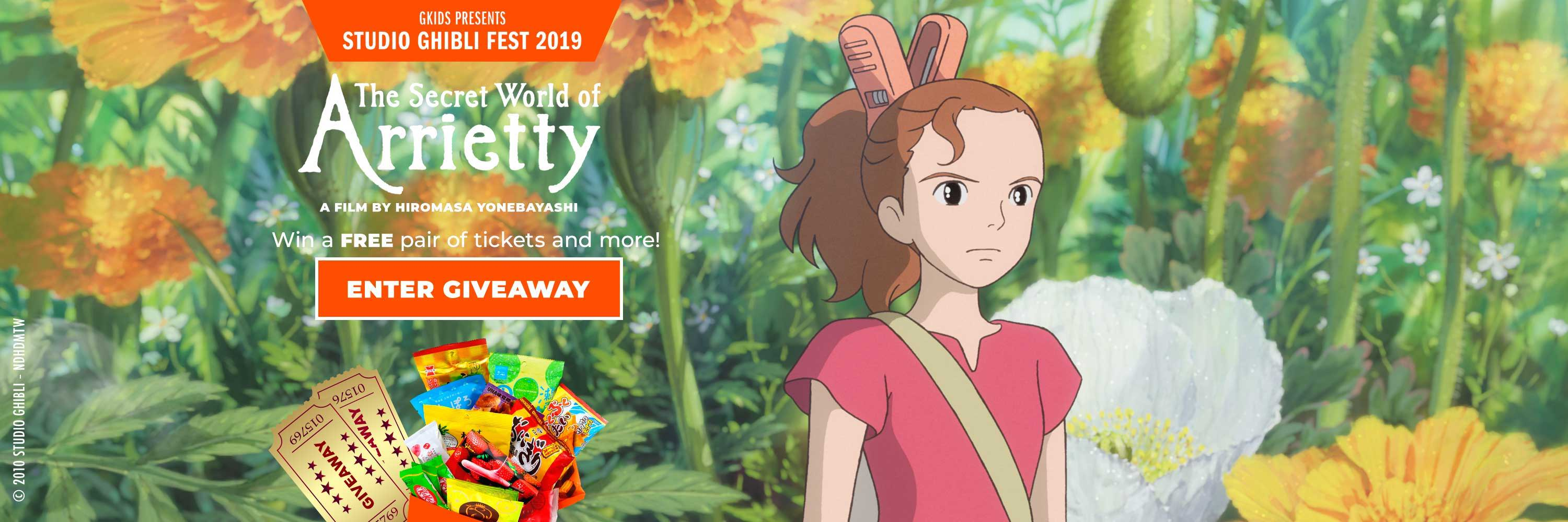 Studio Ghibli giveaway for Arietty
