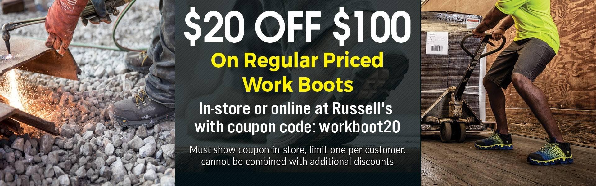 Work Coupon code: workboot20