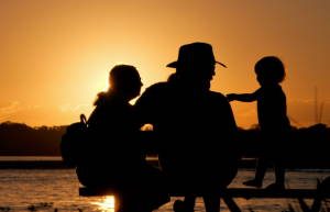 Image Of People In A Sunset