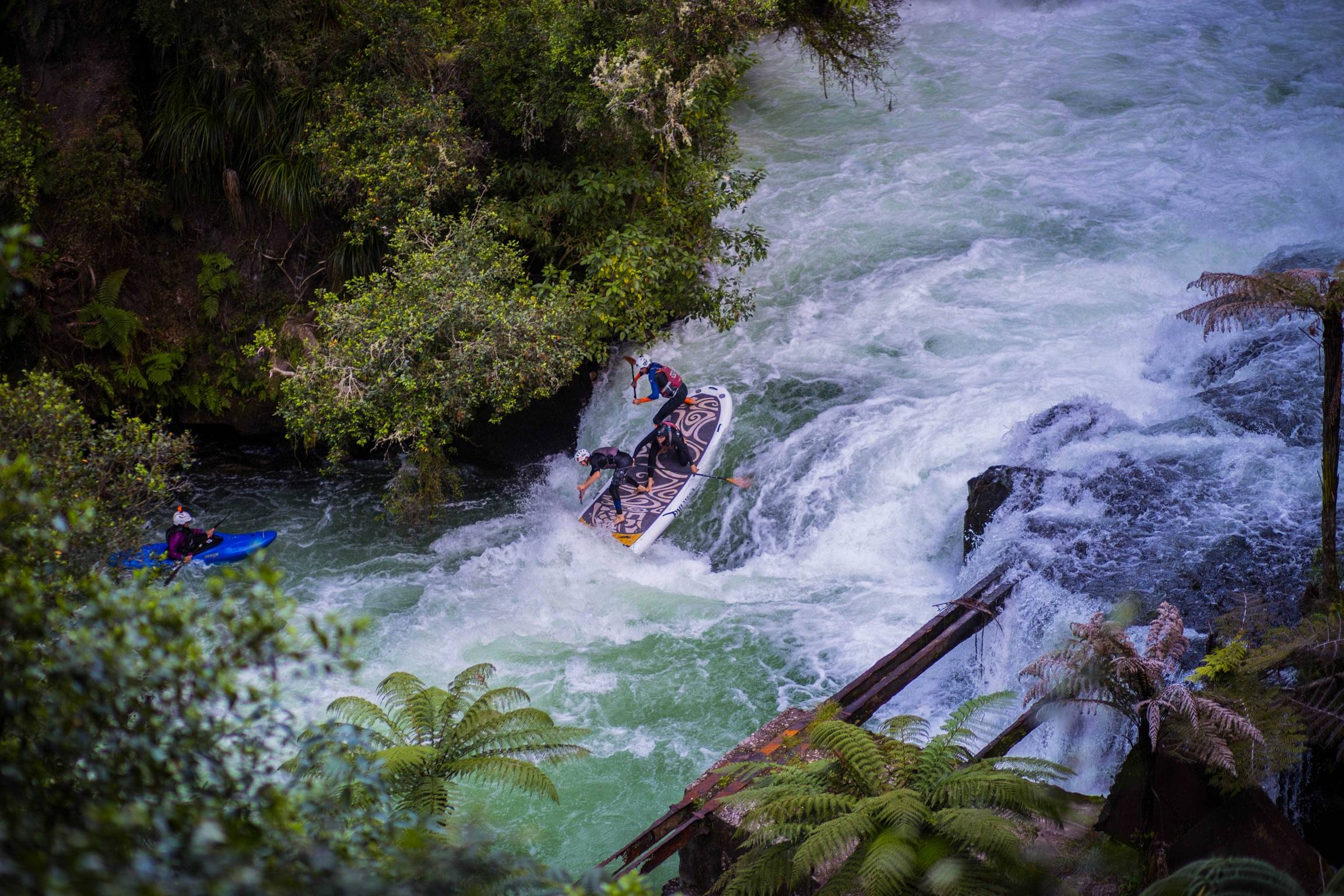 The best giant paddle board out there. Oahu Nui Pau Hana SUP in New Zealand River