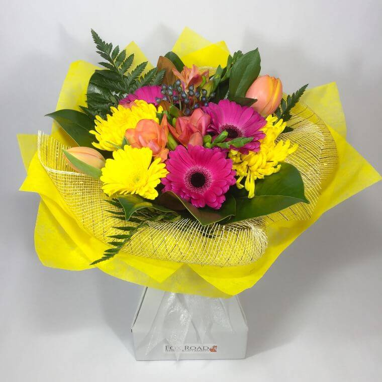 Large and bright flowers in vox