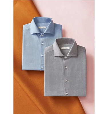 Luca Faloni Brushed cotton shirts made in Italy
