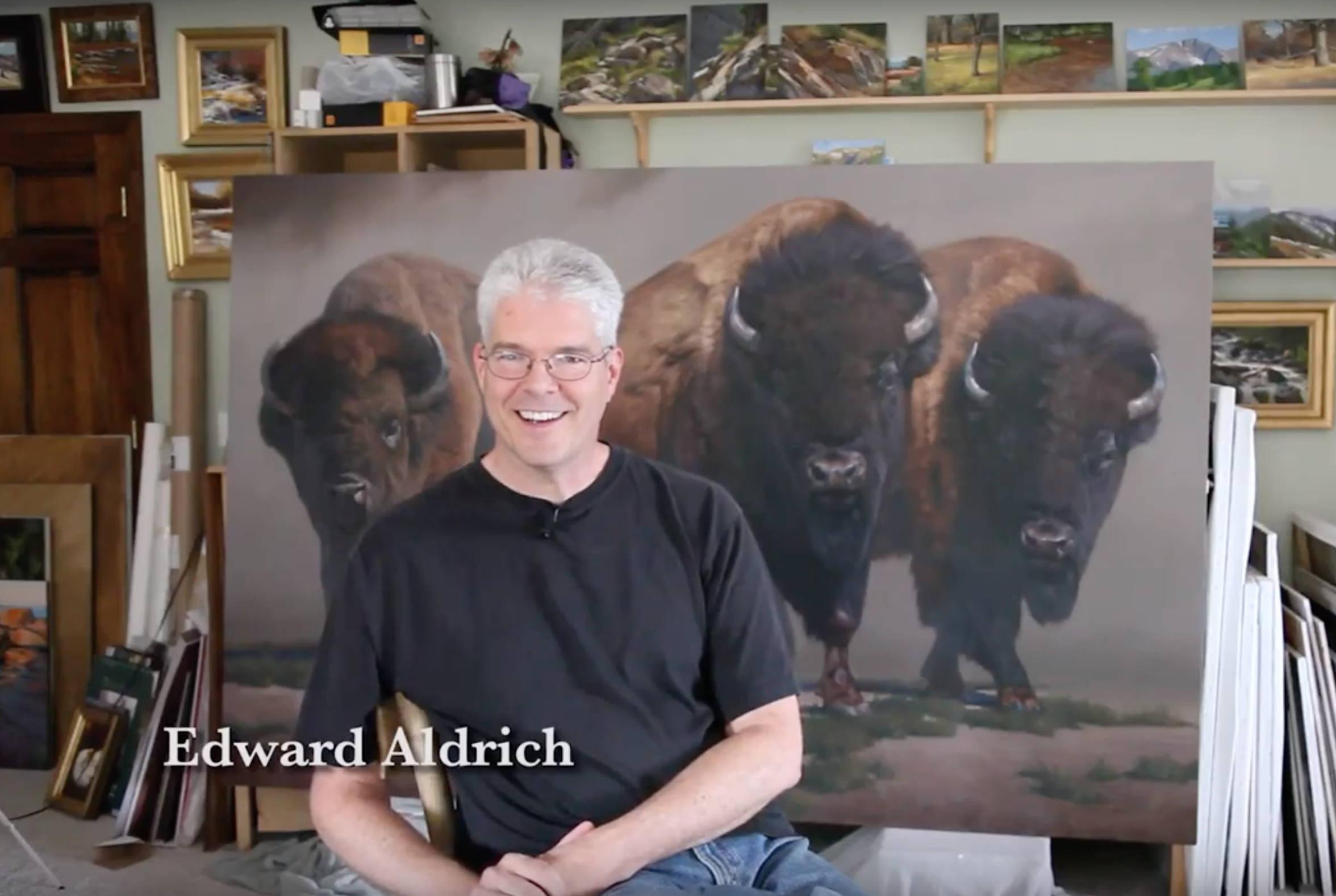 Edward Aldrich. Wildlife Artist. Ned Aldrich.