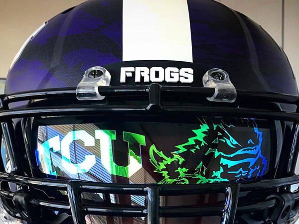 custom football visor decals
