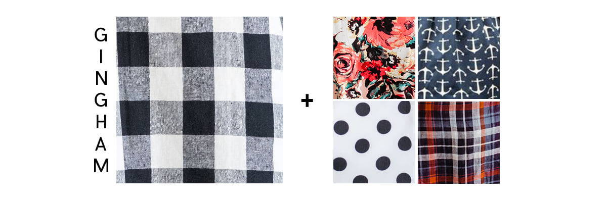 pattern mixing for beginners gingham checkers