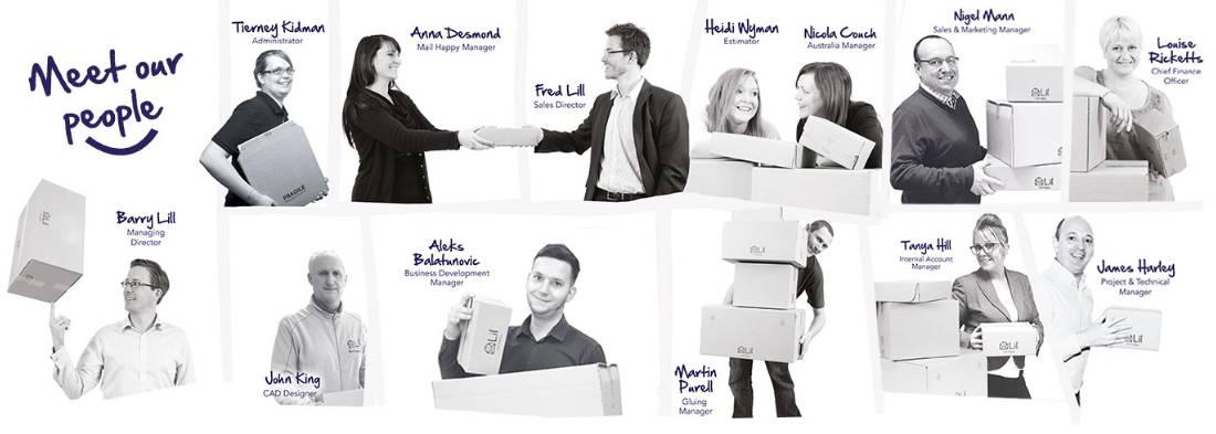 lil packaging team members