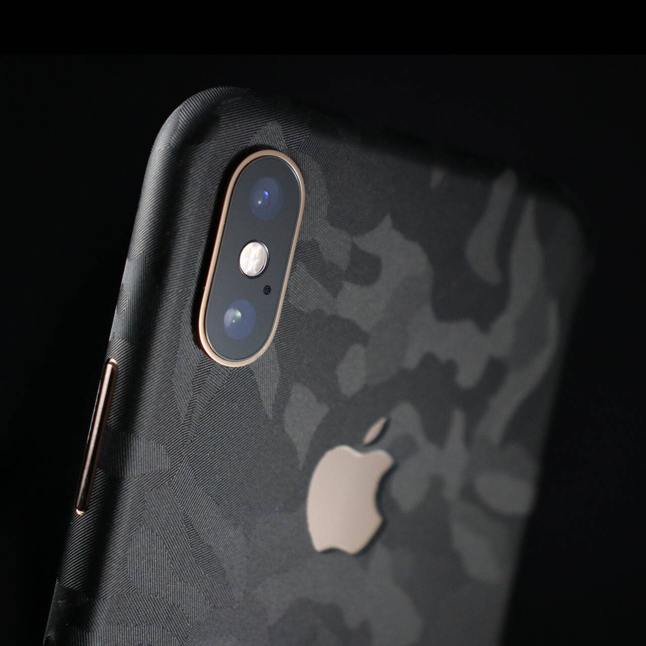 iPhone XS Black Camo Skins