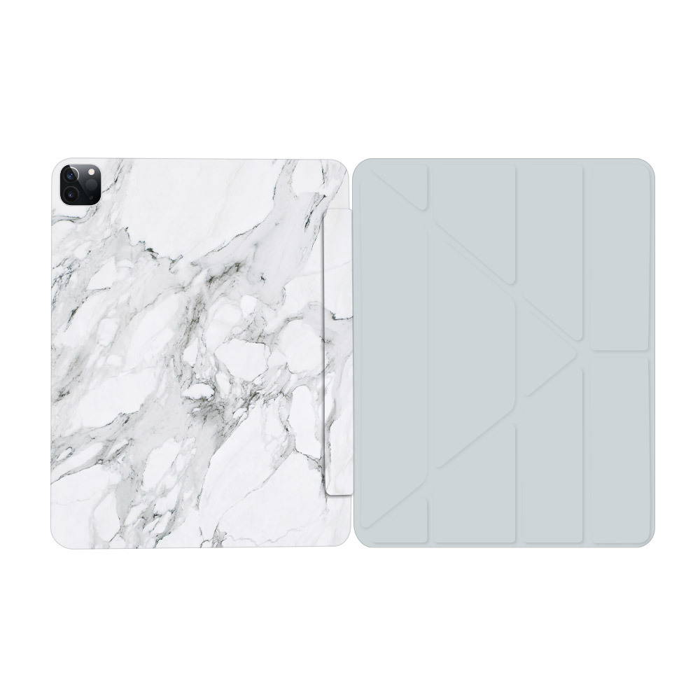 Best iPad Accessories & Apps - iPad Cover in white marble