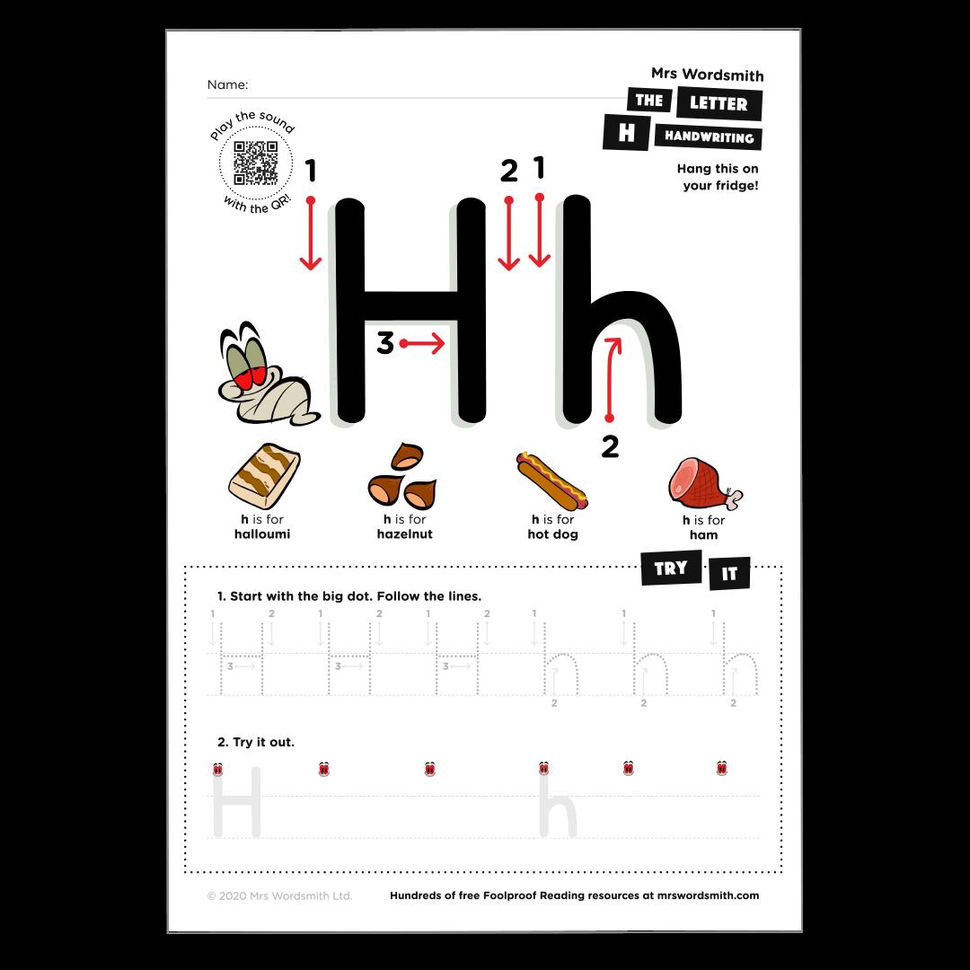 Letter h activity