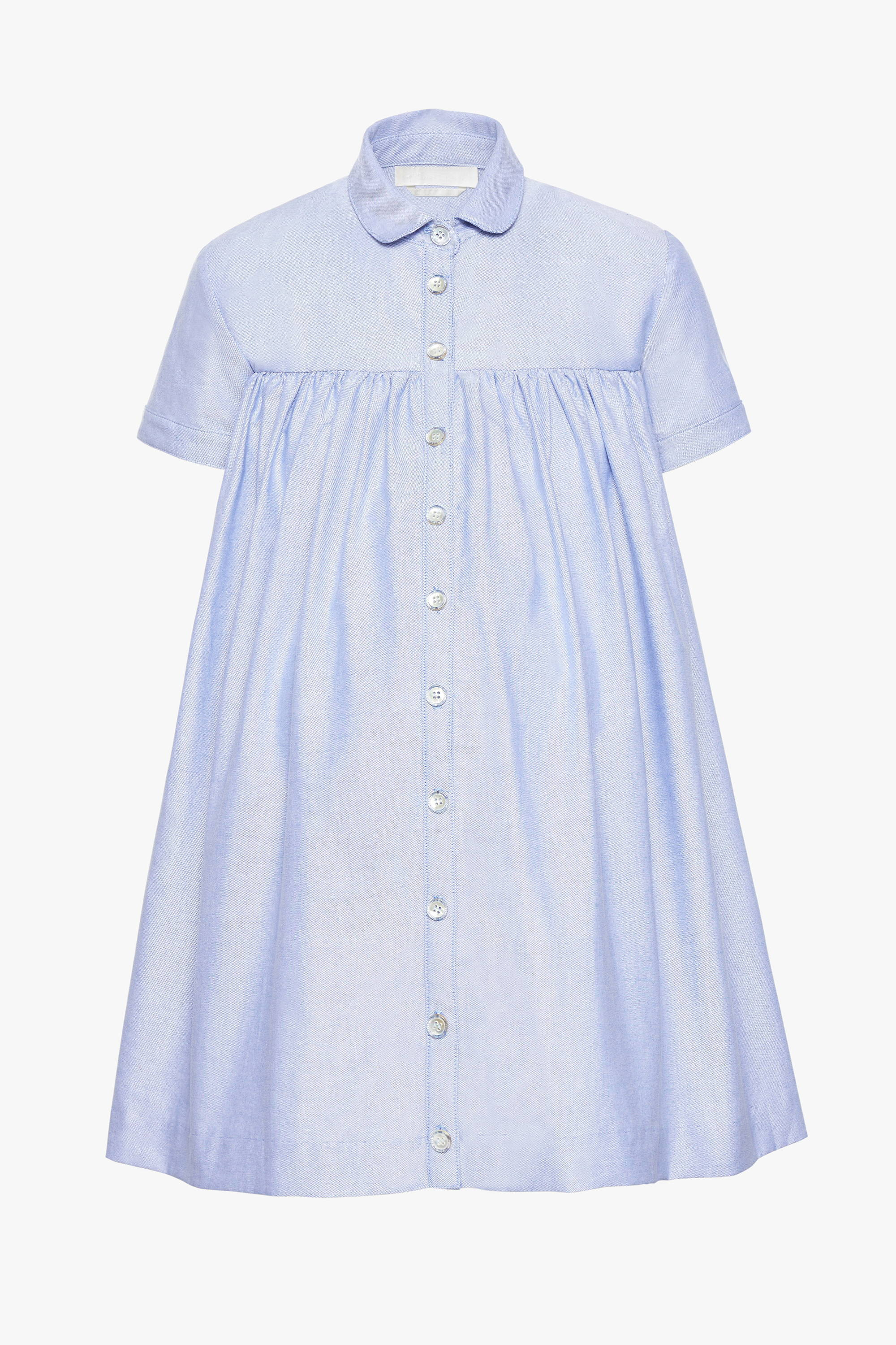 The maternity friendly Melrose dress in blue poplin