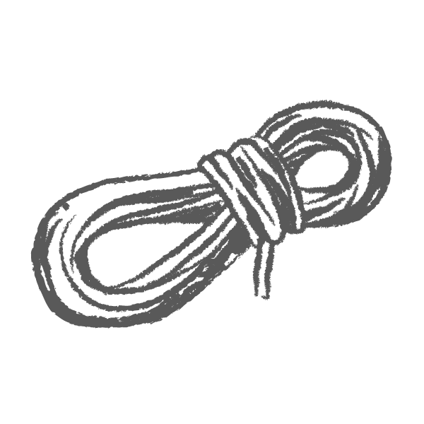 sketched drawing of Rope