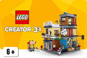 LEGO Creator talo ja pyöräkorjaamo