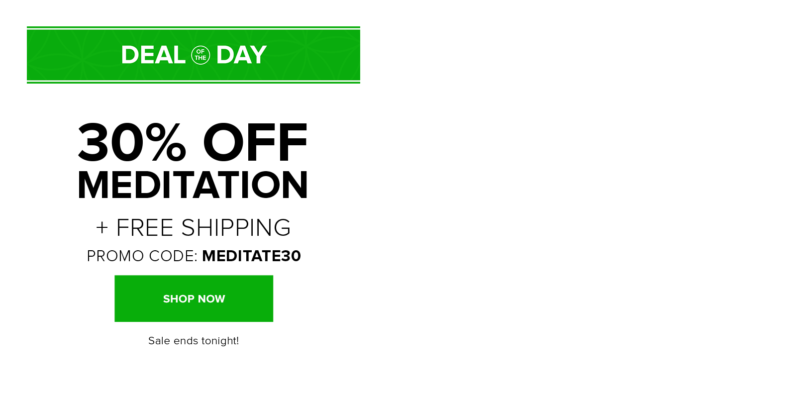 30% off meditation with code MEDITATE30