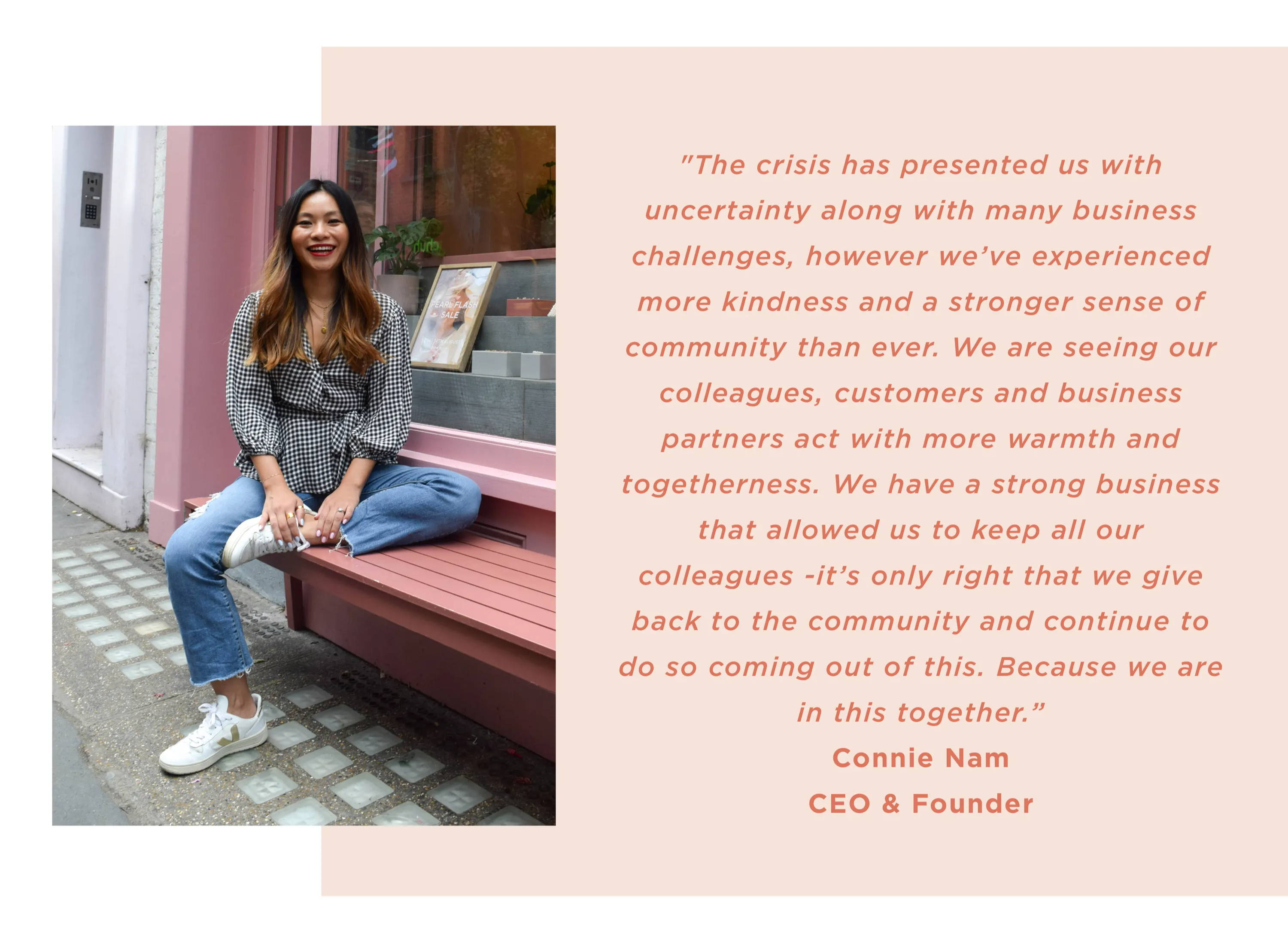 Quote from Connie Nam about the collaboration