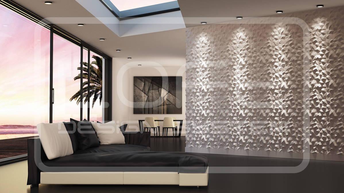 Gypsum 3D Wall Panel – PEAKS