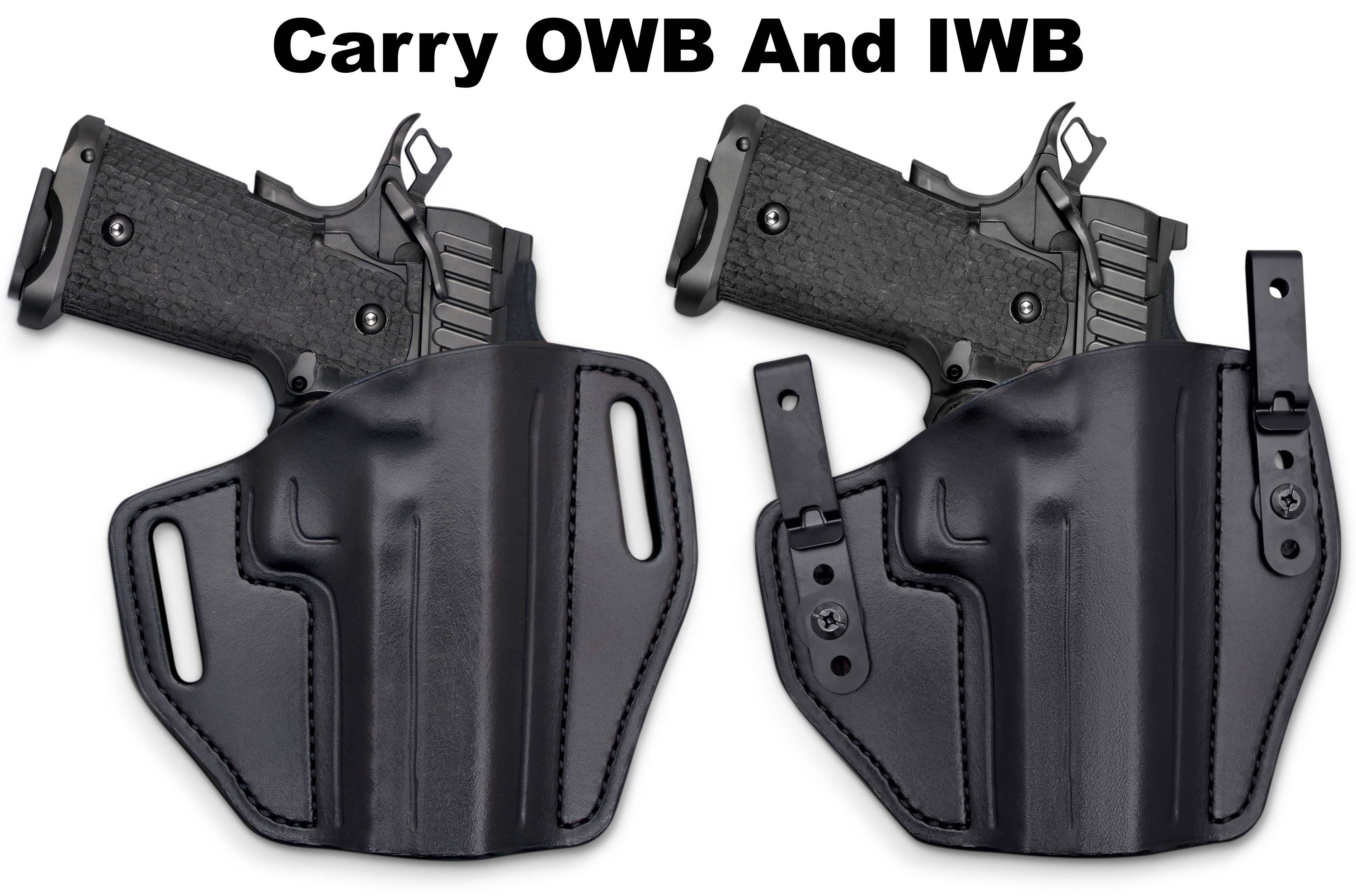 Right Hand Black Leather OWB Open Top Belt Holster for TAURUS 608 REVOLVER 6.5/""
