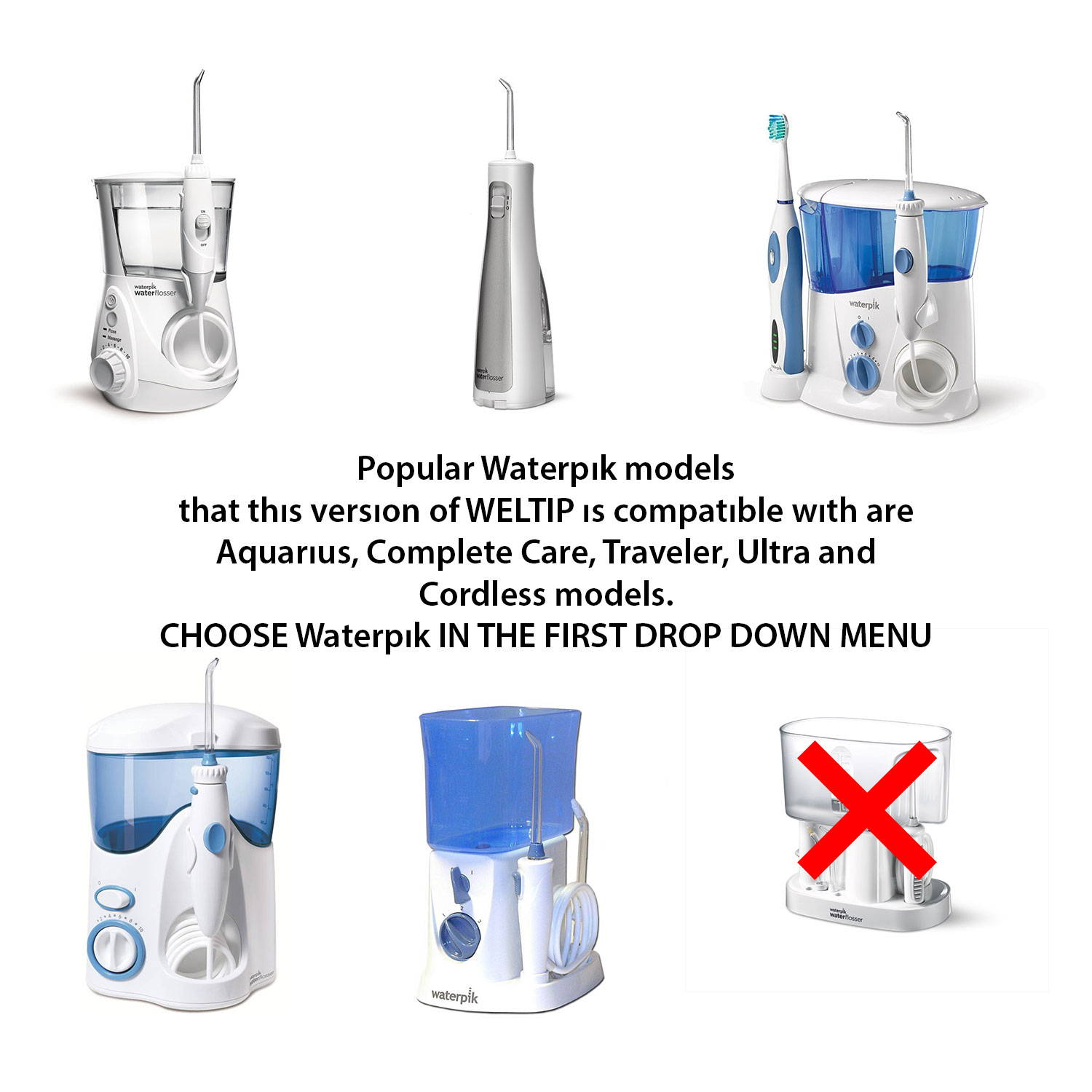 Waterpik replacement jet tips WELTIP