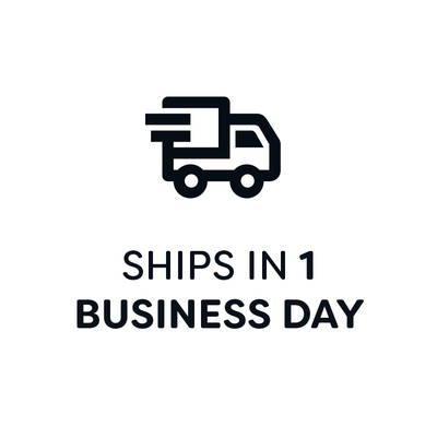 Orders ship within 1 business day