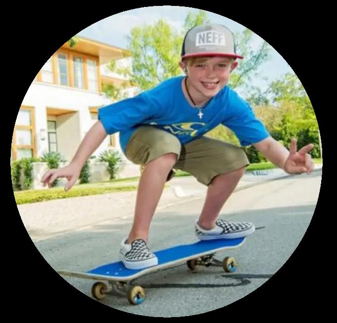 Braden Baker on Skateboard