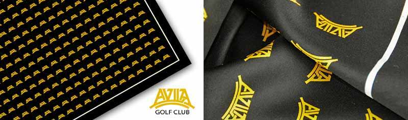 Clubcustom logo scarves - Polyester twill - Square