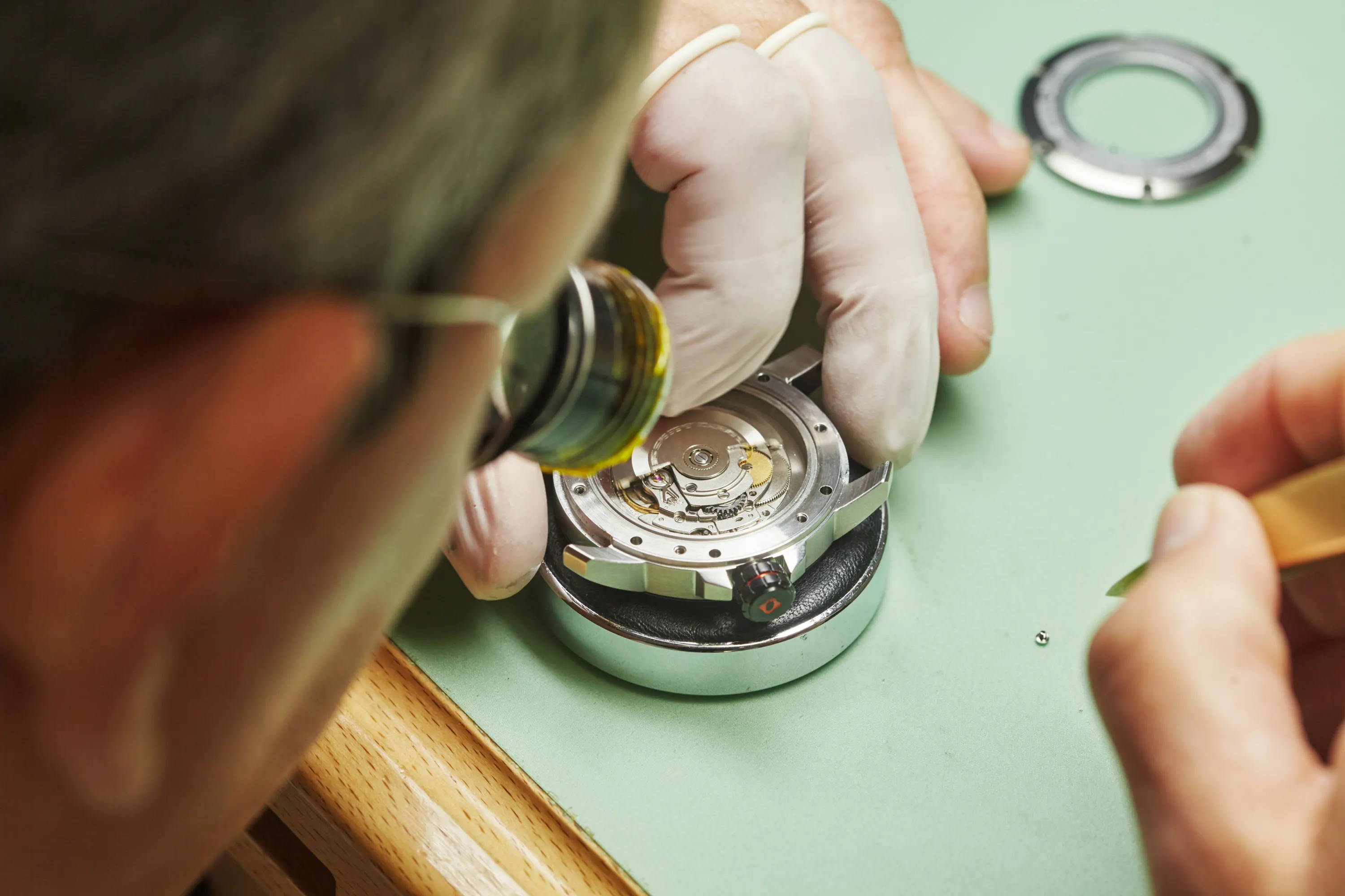 LIV watchmaker at work