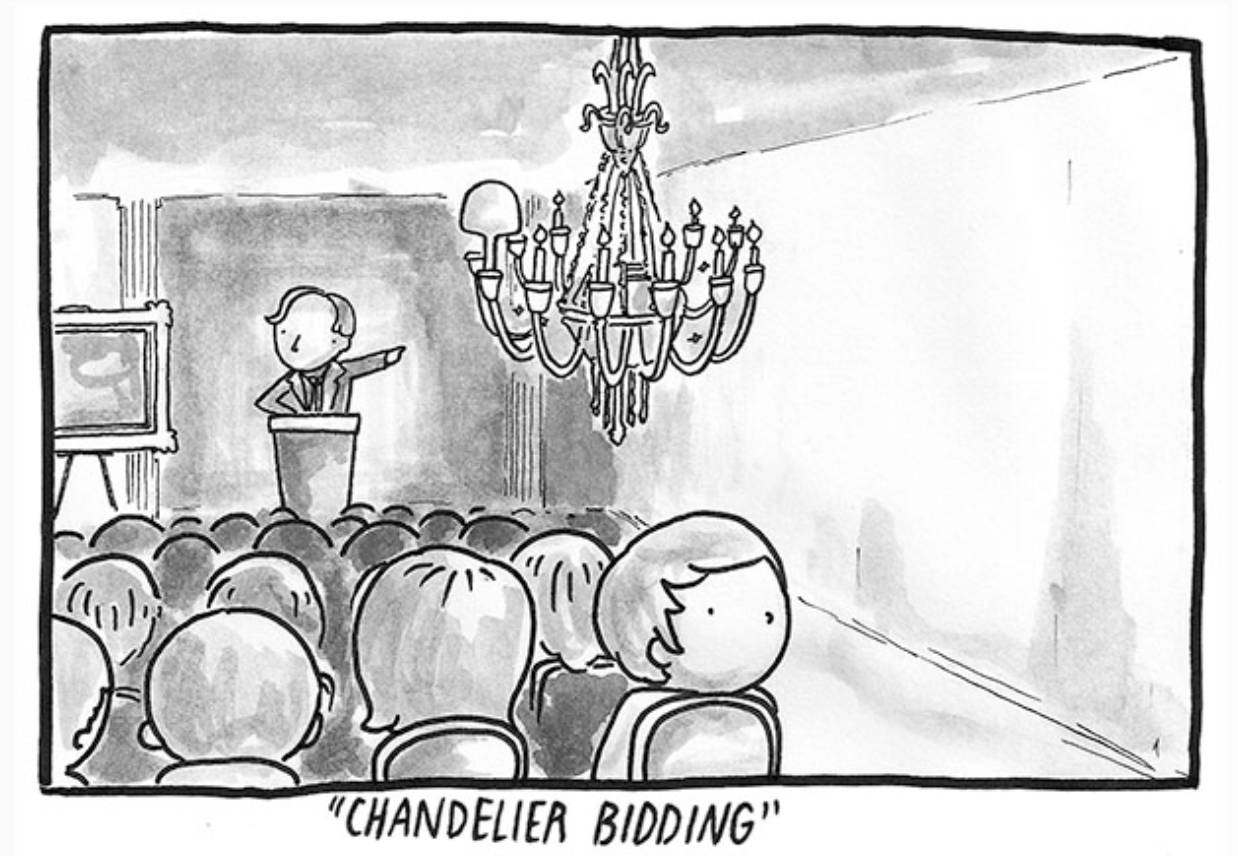 Sketch - chandelier bidding