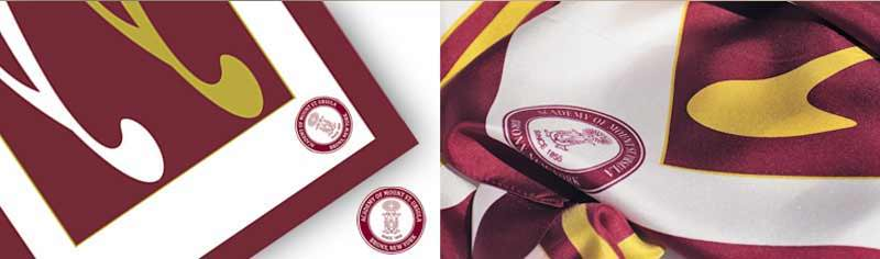 College custom scarves - Silk satin - Oblong