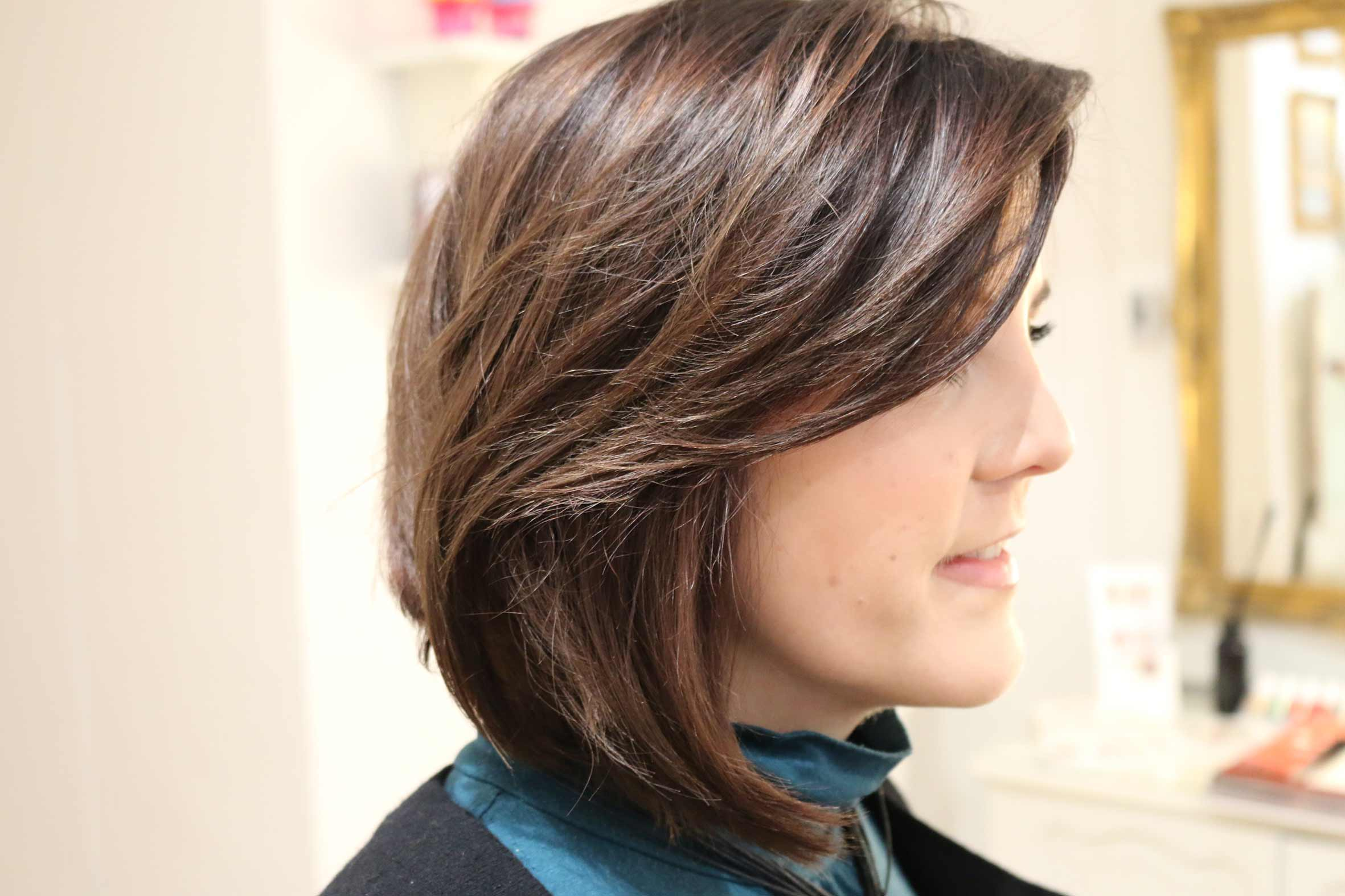 langer bob für braune haare geschnitten bei PÜPPIKRAM deinem Friseur in Berlin Friedrichshain