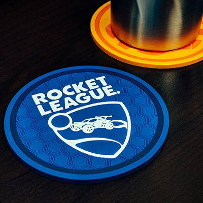 Photo showing a Rocket League coaster