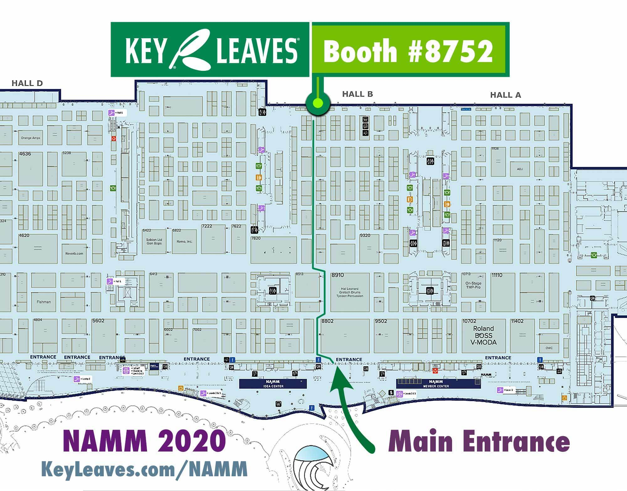 Map to Key Leaves at The NAMM Show 2020