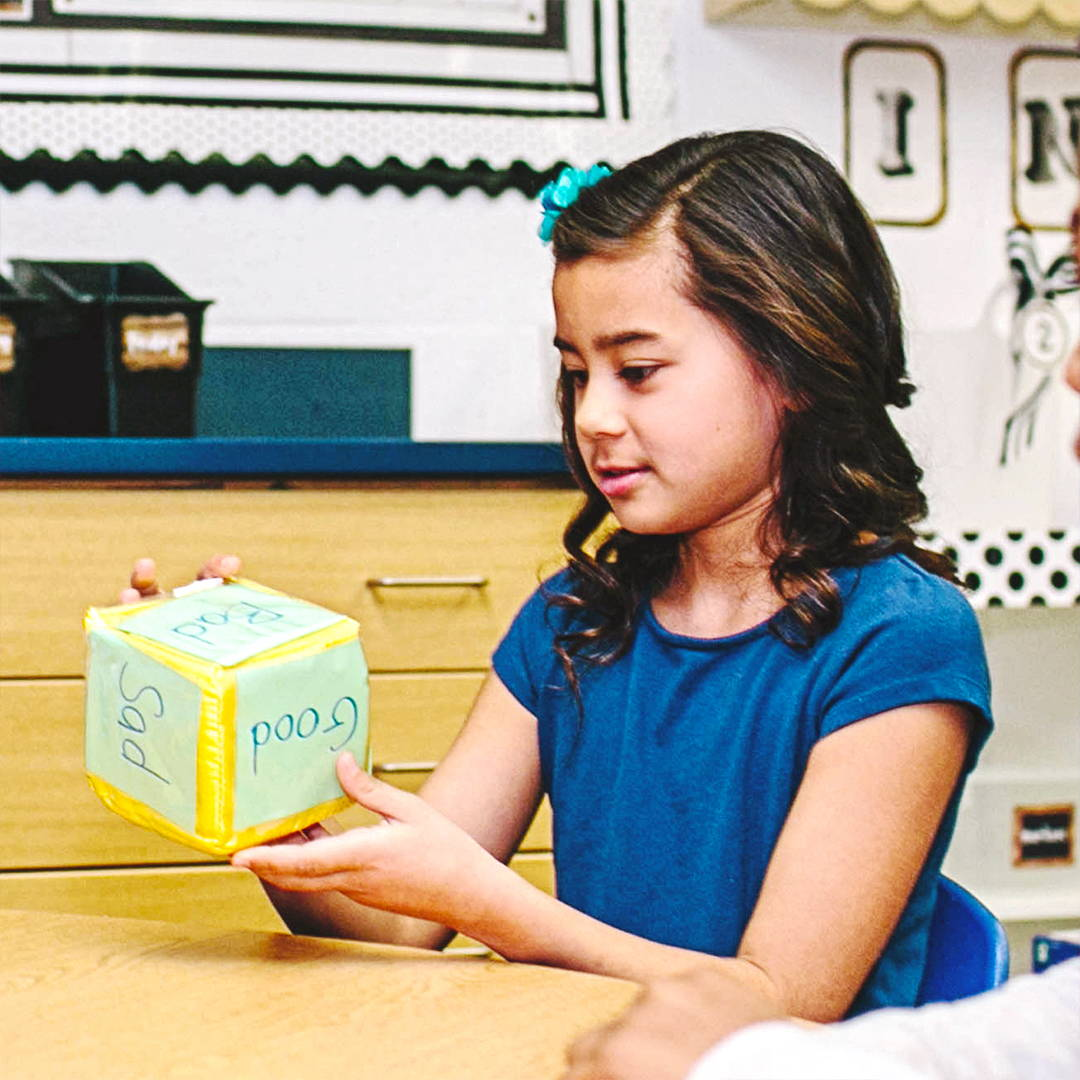 Girl with Differentiated Cube